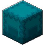 Бирюзовый шалкеровый ящик в Майнкрафте