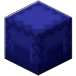 Синий шалкеровый ящик в Майнкрафте